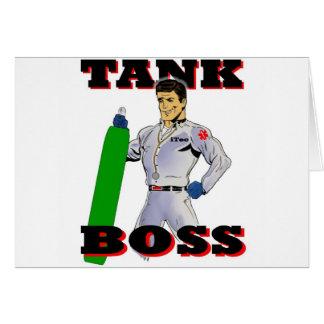 Hombre de Boss del tanque Tarjeta De Felicitación