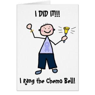 Hombre de Chemo Bell - cáncer de estómago de la Tarjeta De Felicitación