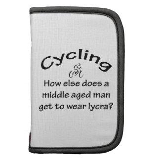 Hombre de ciclo organizadores