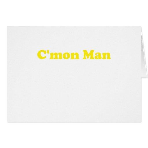 Hombre de Cmon Felicitaciones