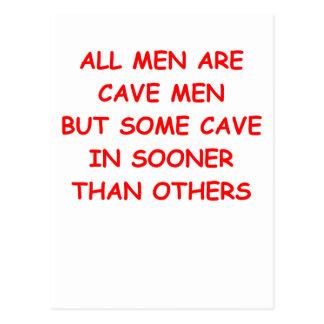 hombre de cueva postales