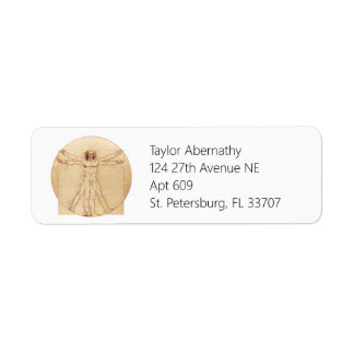 Hombre de da Vinci Vitruvian Etiqueta De Remitente