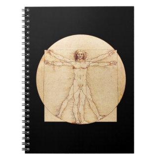 Hombre de da Vinci Vitruvian Libreta