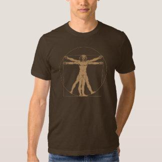 Hombre de da Vinci Vitruvian Poleras