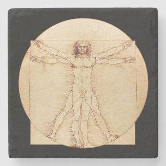 Hombre de da Vinci Vitruvian Posavasos De Piedra
