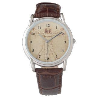 Hombre de da Vinci Vitruvian Relojes