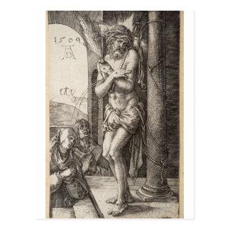 Hombre de dolores, columna, Virgen, St. John por D Tarjeta Postal