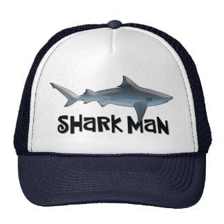 Hombre de encargo del tiburón gorros bordados