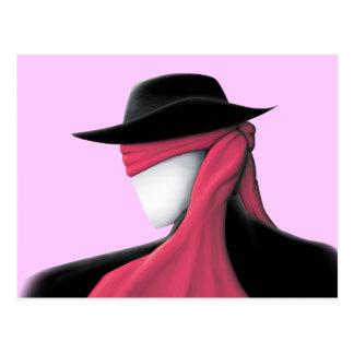 Hombre de Fedora con la bufanda roja Postales