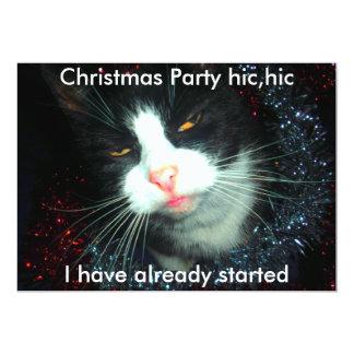 """hombre de fiesta fresco hic, fiesta de Navidad Invitación 5"""" X 7"""""""