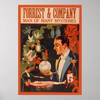 Hombre de Forrest & Company de muchos misterios Póster
