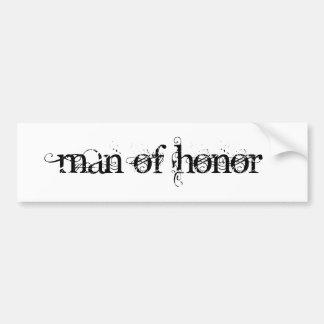 Hombre de honor pegatina para auto