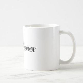 Hombre de honor taza de café
