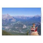 Hombre de Hula en Banff, Canadá Tarjeta De Felicitación