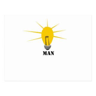Hombre de idea postales