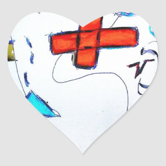 Hombre de Innumeral Pegatina En Forma De Corazón