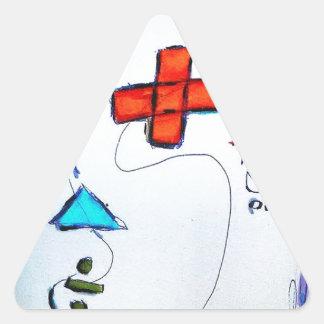 Hombre de Innumeral Pegatina Triangular