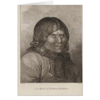 Hombre de Kamtschatka, Rusia Tarjeta De Felicitación