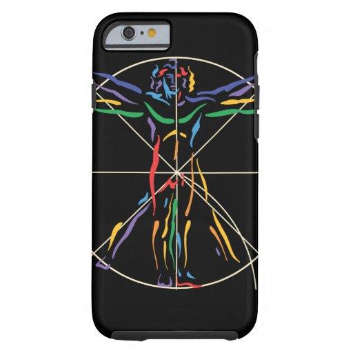 Hombre de la anatomía de DaVinci en los colores de Funda De iPhone 6 Tough