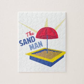 Hombre de la arena puzzles con fotos