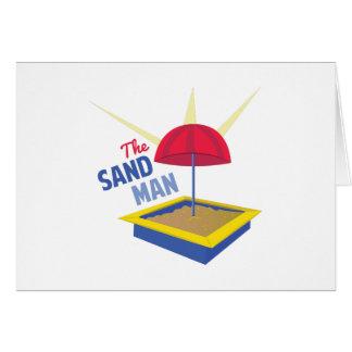 Hombre de la arena tarjeta de felicitación