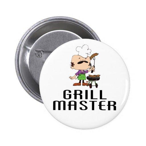 Hombre de la barbacoa de Grill Master Pins