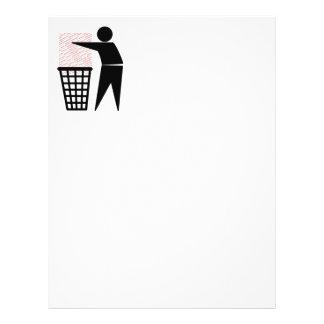 """Hombre de la basura que descarga la basura de folleto 8.5"""" x 11"""""""