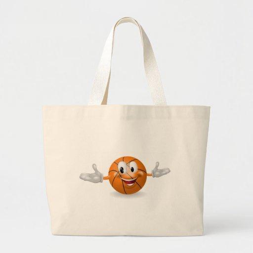 Hombre de la bola de la cesta bolsa lienzo