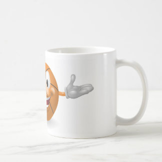 Hombre de la bola de la cesta tazas de café