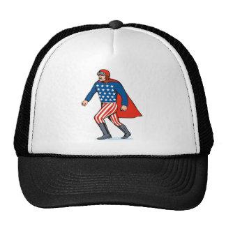 hombre de la bola del canon del super héroe gorros bordados