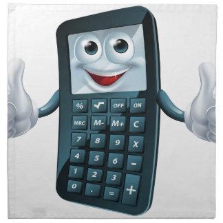 Hombre de la calculadora del dibujo animado servilletas