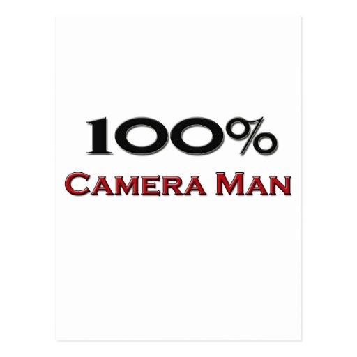 Hombre de la cámara del 100 por ciento tarjeta postal