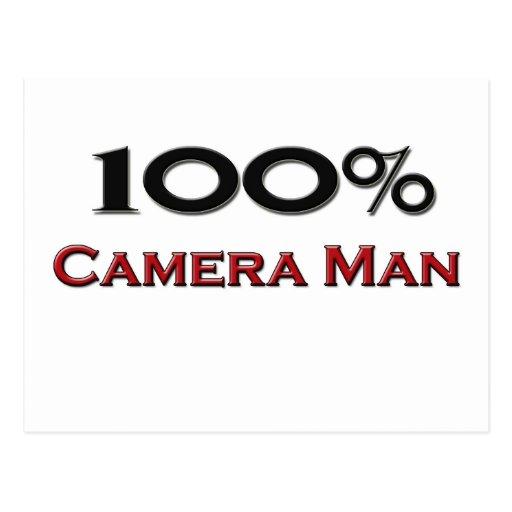 Hombre de la cámara del 100 por ciento postal