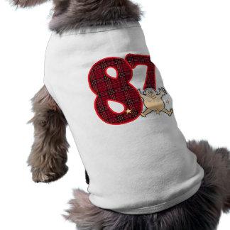 Hombre de la estrella de 87 edades playera sin mangas para perro