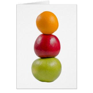 Hombre de la fruta tarjeta de felicitación