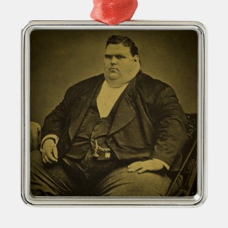 Hombre de la grasa del acto secundario del monstru ornamento para arbol de navidad