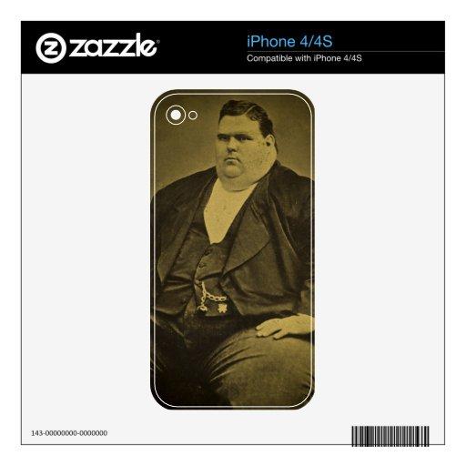 Hombre de la grasa del acto secundario del monstru iPhone 4S calcomanía