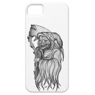Hombre de la guadaña - el diseño blanco y negro de iPhone 5 carcasa