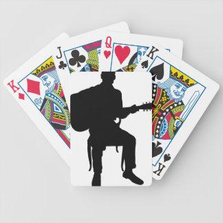 Hombre de la guitarra baraja cartas de poker