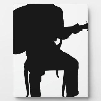Hombre de la guitarra placas de plastico