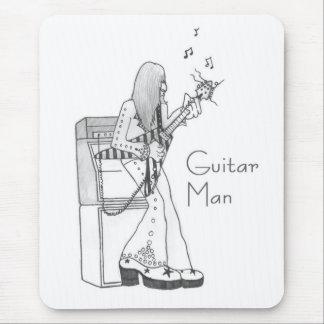 Hombre de la guitarra alfombrillas de ratones
