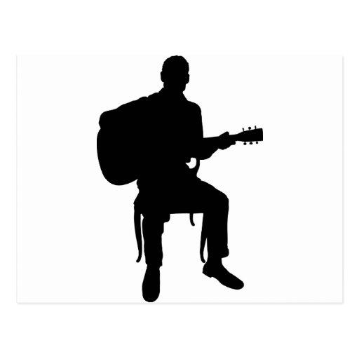 Hombre de la guitarra tarjeta postal