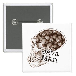 Hombre de la haba de Java Pin Cuadrado