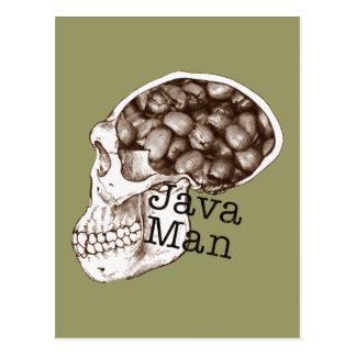 Hombre de la haba de Java Tarjeta Postal