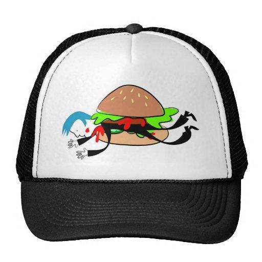 Hombre de la hamburguesa gorras