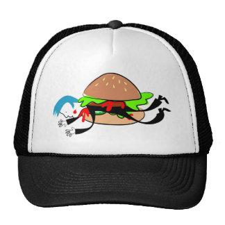Hombre de la hamburguesa gorras de camionero