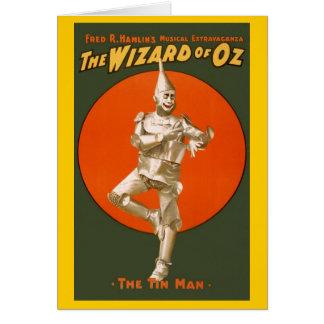 Hombre de la lata de mago de Oz Tarjeta De Felicitación