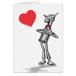 Hombre de la lata en amor tarjeta