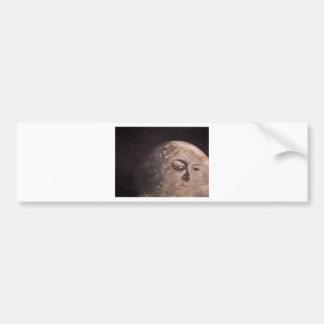 Hombre de la luna etiqueta de parachoque