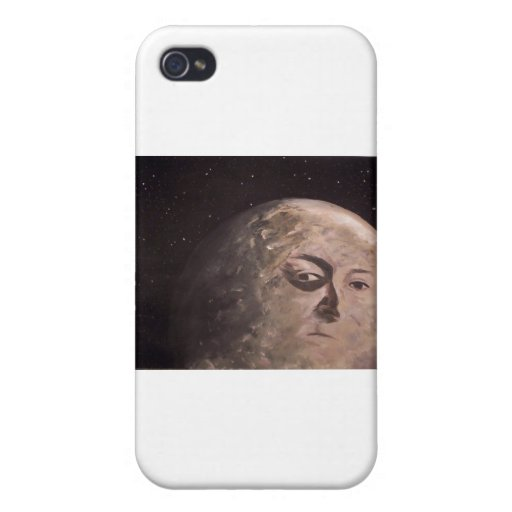 Hombre de la luna iPhone 4/4S fundas